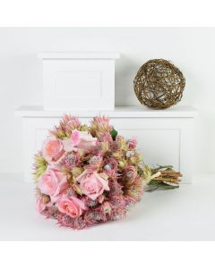 Blushing Notes Mixed Rose Bouquet