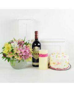 Celebrating Her Flowers & Wine Gift