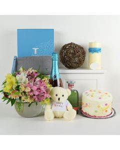 Birthday Bash Lilies Champagne & Flower Gift