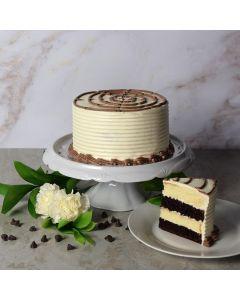Black + White Layer Cake