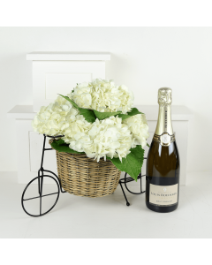 Tuscan Countryside Flowers & Champagne Gift