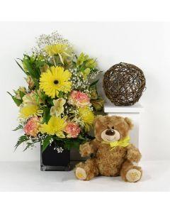 Radiant Sunrise Mixed Floral Bouquet Gift Set
