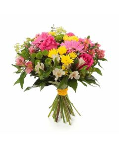 Country Cottage Mixed Peruvian Lily Bouquet