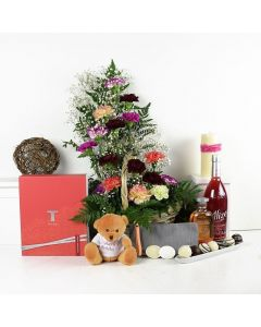 A Day At The Spa Flowers & Wine Gift