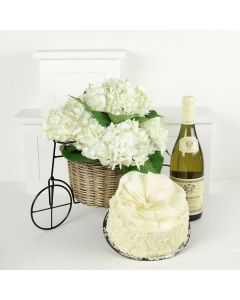 A Lovely Celebration Flowers & Wine Gift