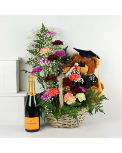 Bear In Mind Champagne & Flower Gift