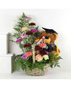 Bear In Mind Plush & Flower Gift