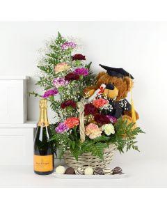 Bearly Truffles Champagne & Flower Gift