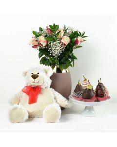 Blooming Beauty Fruit & Flower Gift Set