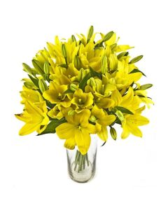 Amber Celebration Lily Bouquet