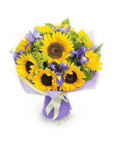 Golden Grace Sunflower Bouquet