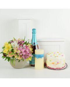 Celebrating Him Flowers & Champagne Gift