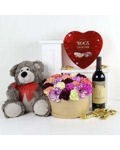 Celebration of Love Flowers & Wine Gift