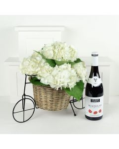 Charming Garden Party Flowers & Wine Gift