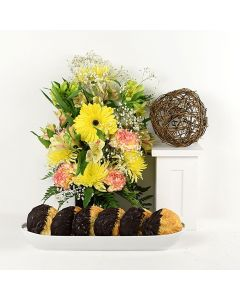Blossoming Sunrise & Cookie Bouquet
