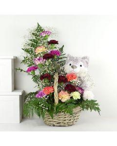 Mixed Wildflower & Plush Gift Set