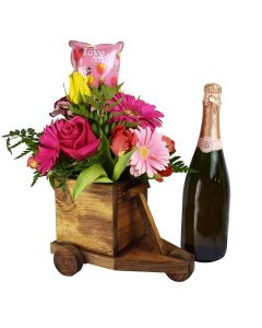 Dreaming of Tuscany Champagne & Flower Gift