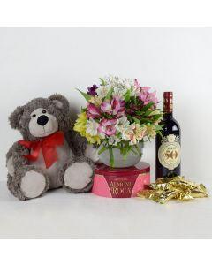 Eternal Love Flowers & Wine Gift