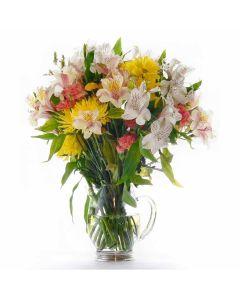 Eternal Sunshine Mixed Peruvian Lily Bouquet