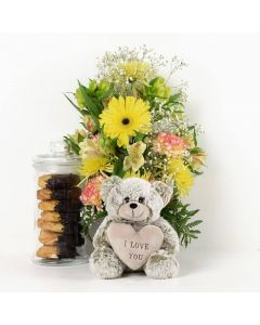 """""""I Love You"""" Floral Sunrise Mixed Bouquet"""