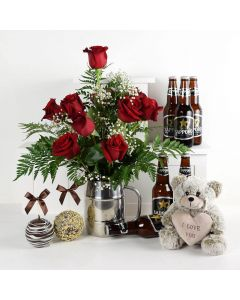 It's  A Fun Surprise! Flowers & Beer Gift