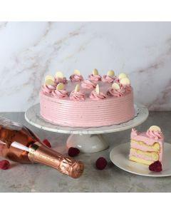 Large Vanilla Cake with Raspberry Buttercream