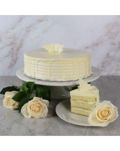 Large White Chocolate Cake