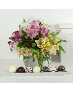 Livewire Lilies Chocolate & Flower Gift