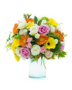 Caribbean Sunrise Mixed Floral Bouquet