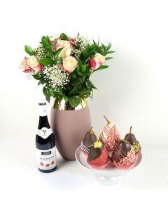 Pure Love Flowers & Wine Gift
