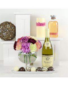 Scent-Crazed Carnations Wine & Truffles Gift