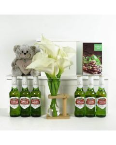 The Bold & Beautiful Flowers & Beer Gift