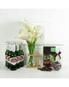The Finer Things Flowers & Beer Gift