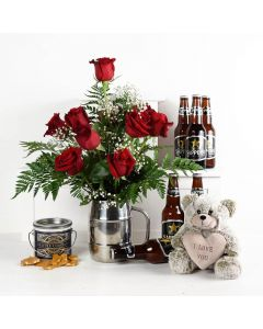 Time To Celebrate Flowers & Beer Gift