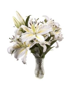 Ivory Dreams Peruvian Lily Bouquet