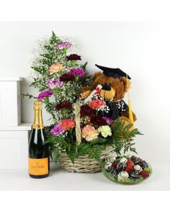 """""""You're a Graduate!"""" Flowers & Champagne Gift"""