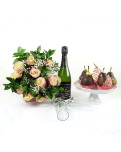 Sweet Surprises Forever Flowers & Champagne Gift