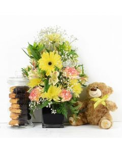 Get Well Soon Floral Gift Set