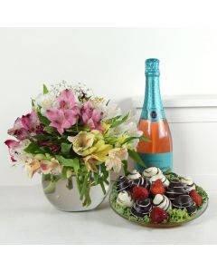 The Perfect Trio Flowers & Champagne Gift