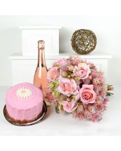 A Graceful Celebration Flowers & Prosecco Gift