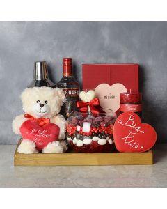 Palmerston Valentine's Day Basket, liquor gift baskets, gourmet gift baskets, gift baskets, Valentine's Day gift baskets