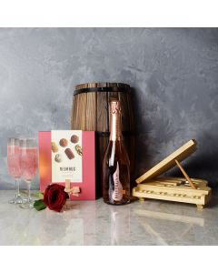 Grand Piano & Champagne Gift Basket, champagne gift baskets, chocolate gift baskets, Valentine's Day gifts, gift baskets, romance
