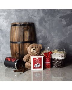 Danforth Coffee & Sweets Basket, gourmet gift baskets, Valentine's Day gifts, gift baskets, romance