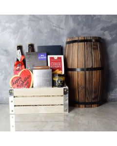 Distillery Valentine's Day Gift Crate, beer gift crates, gourmet gift crates, Valentine's Day gifts, gift baskets, romance