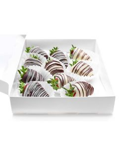 Berry Drizzle Chocolate Dipped Strawberries
