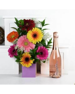 Pops of Cheer Flowers & Champagne Gift