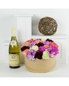 A Day In Paradise Flowers & Wine Gift